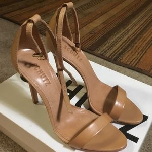 Schutz size 7 tan heels